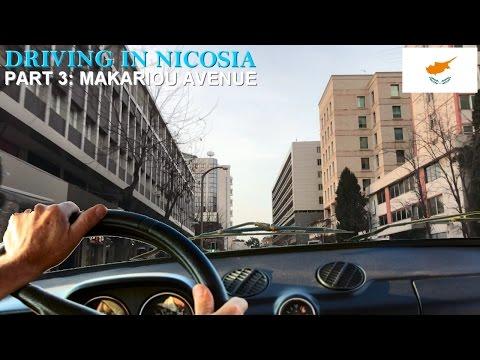 Driving in Nicosia Part 3 | Makariou Avenue, Nicosia