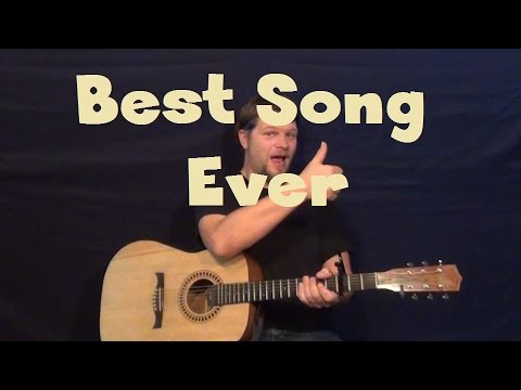 Best Song Ever (One Direction) Easy Guitar Lesson How to Play Tutorial