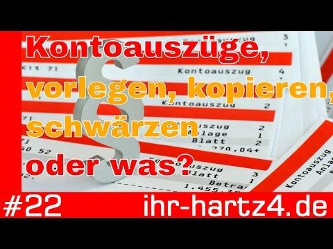 Kontoauszüge - Vorlegen, Kopieren, Schwärzen Oder Was? | Ihr-hartz4.de #22