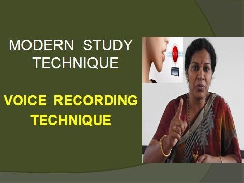 VOICE  RECORDING  TECHNIQUE - MODERN STUDY TECHNIQUE