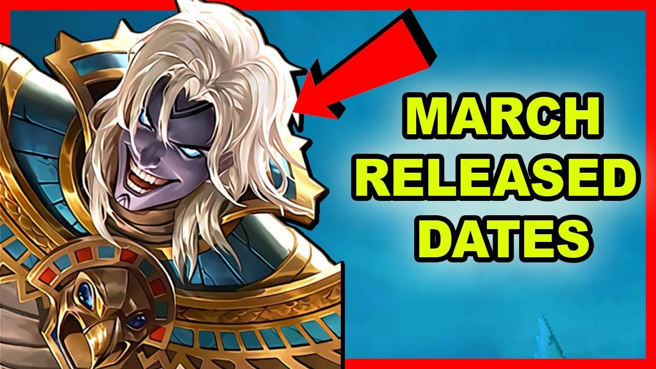 LEAKED RELEASED DATES FOR MARCH 2019 - MOBILE LEGENDS