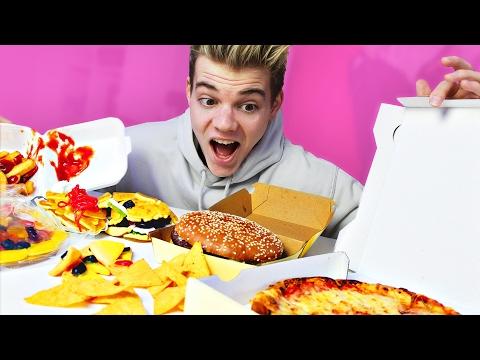 Echtes Essen vs Gummi Essen (Pizza, Burger, Nachos...)