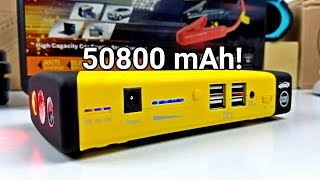 50800mAh Jump Starter - Amazing Power Bank For All Uses!