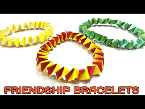 #Friendship #band for #friendship #day   #Paper #bracelets   #Last #minute #friendship #day #gift  