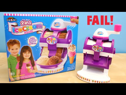 The Real 2 In 1 Ice Cream Maker Cra Z Art Fail Toy Review Youtube