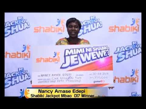 shabiki Jackpot Mbao 017 Winner - Nancy Edepi