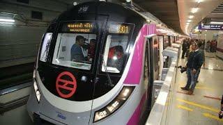 Magenta line Delhi Metro || at Dabri More Station || Part-2