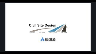 Civil Site Design - BricsCAD Showreel