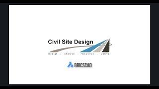 Civil Site Design - BricsCAD Showreel