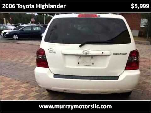 2006 toyota highlander used cars wilmington nc youtube. Black Bedroom Furniture Sets. Home Design Ideas
