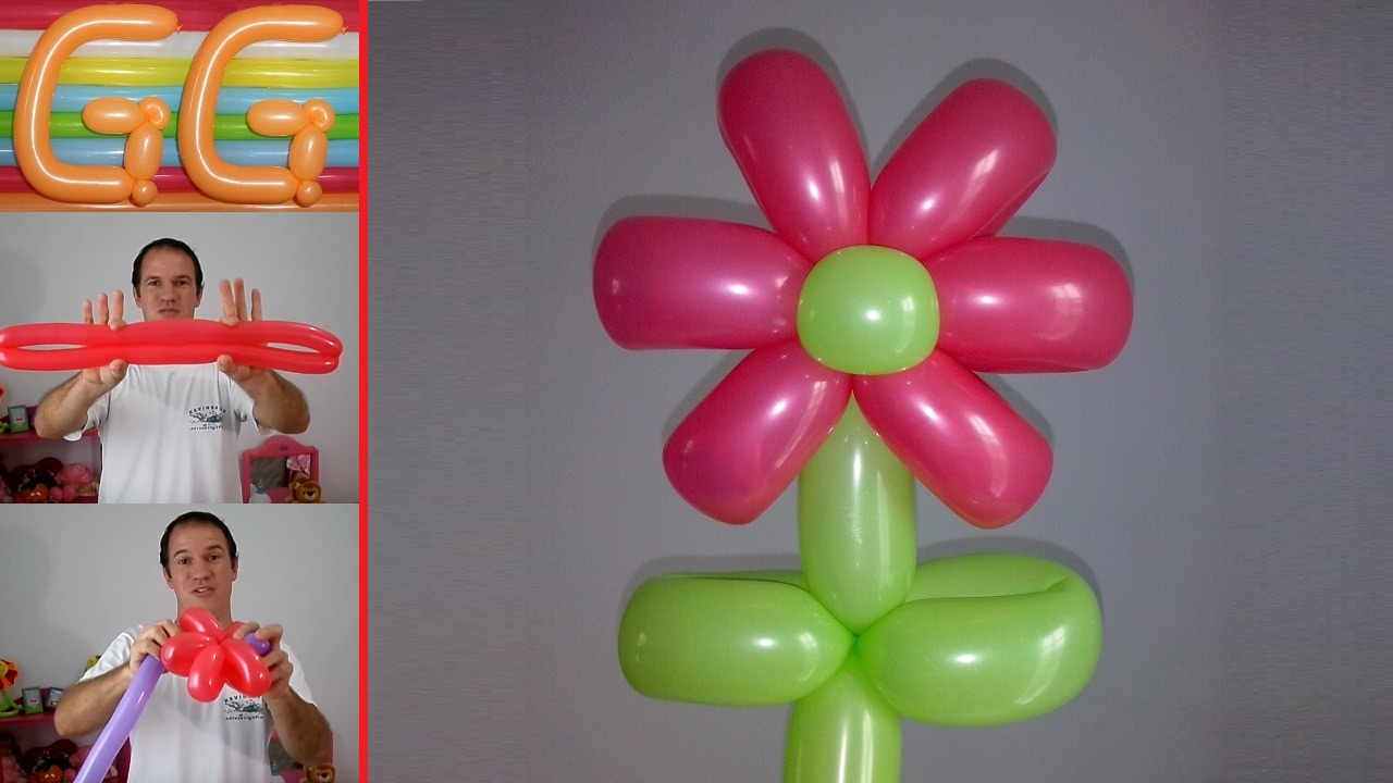 how to make a balloon flower easy balloon flower - Como Hacer Flores Con Globos
