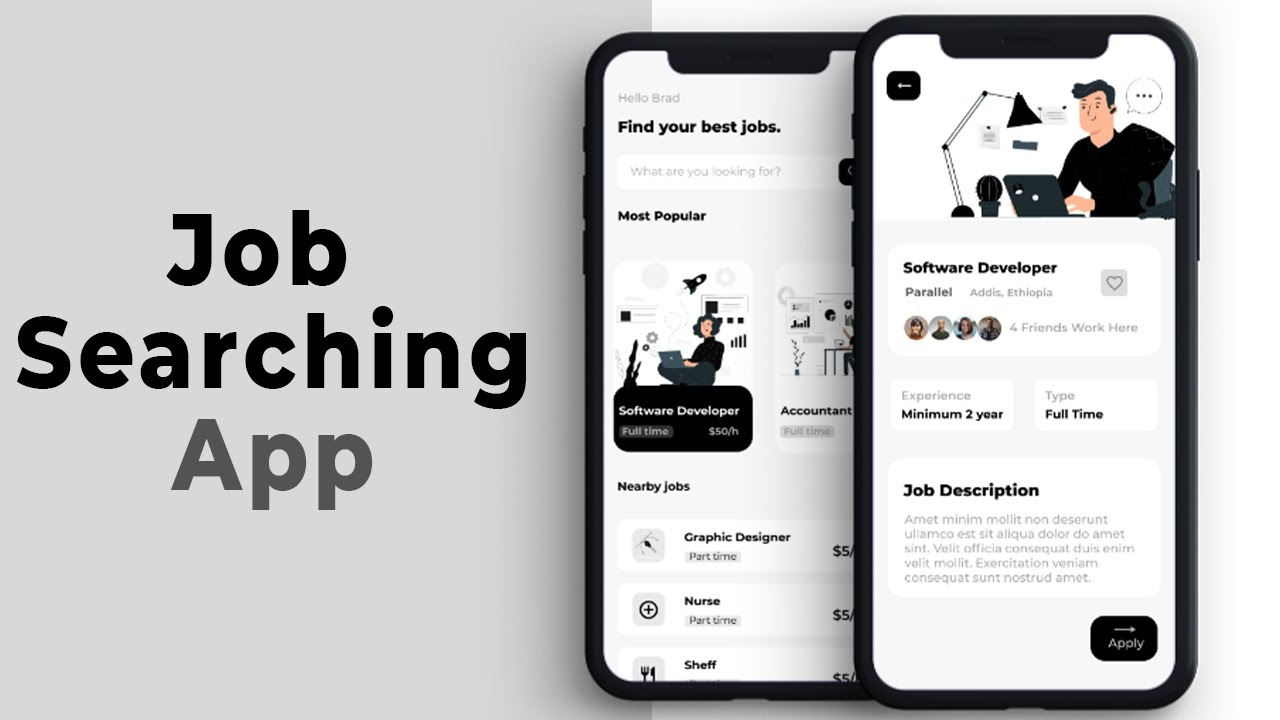 🔴 React Native Job Searching App UI