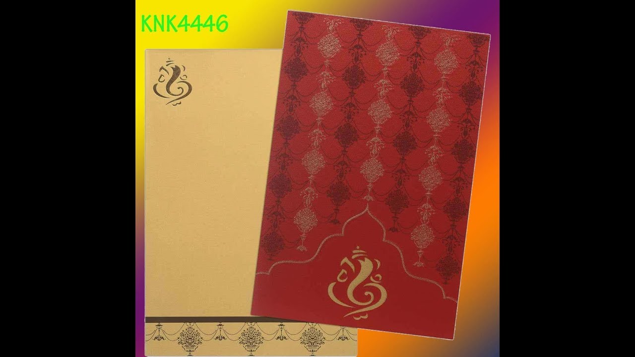 Invitation Card - Luxuriant Ganesha Card In Red And Gold ...