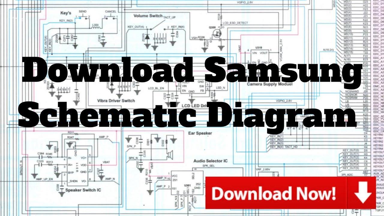 Download Samsung Schematic Diagram  YouTube