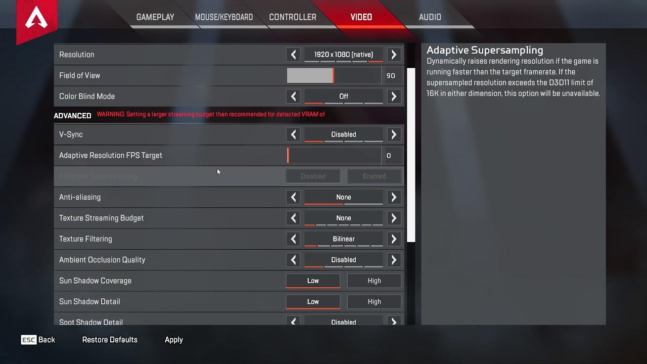 Apex Legends: How to fix Blurry or Blurring