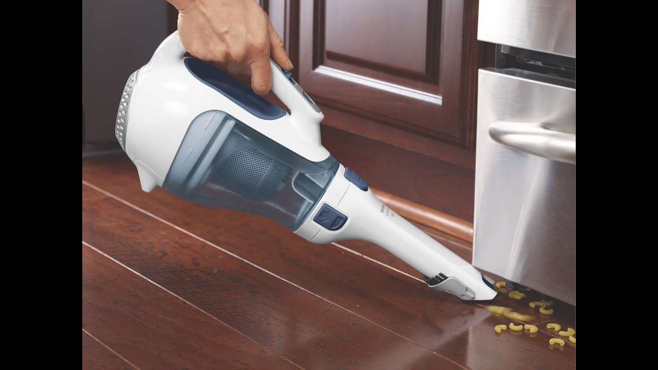 review black decker chv1510 dustbuster 15 6 volt cordless cyclonic hand vacuum youtube. Black Bedroom Furniture Sets. Home Design Ideas