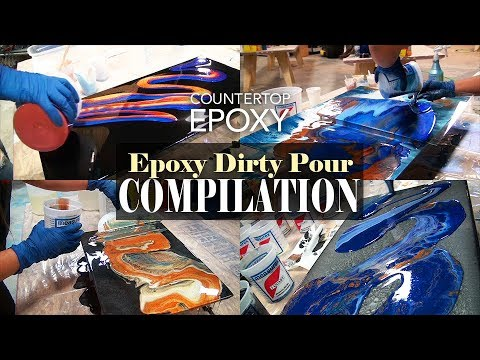 Epoxy Dirty Pour Compilation