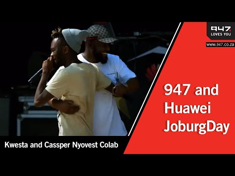 Kwesta and Cassper Nyovest Colab at #HuaweiJoburgDay