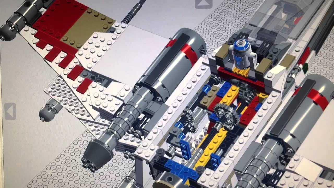lego ldd 7191 xwing mod from adho15s youtube