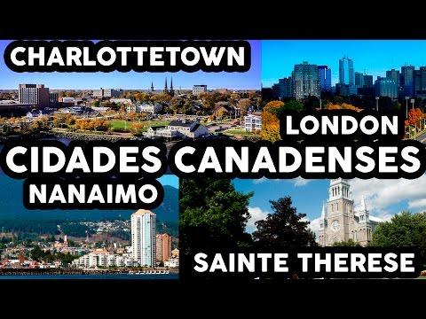 CIDADES CANADENSES  - Charlottetown, Nanaimo, London e Sainte Therese