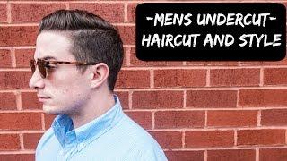 Mens Undercut Hairstyle - Full Haircut Filmed
