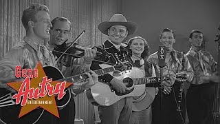 Gene Autry & Pals of the Golden West - Back in the Saddle Again (from Rovin' Tumbleweeds 1939)