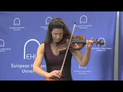 EHU Academic Year Opening: Performance by Violinist Karen Bentley Pollick, 1 (2014)