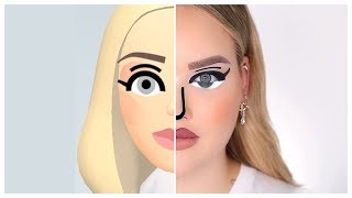 Download I TRANSFORMED INTO A WII CHARACTER! | NikkieTutorials Mp3 and Videos
