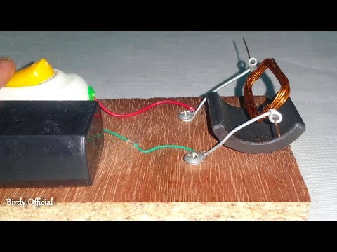DC Electric Motor | How to Make a Simple DC Electric Motor Using Copper Wire and Magnet