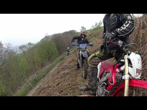 dirt bike enduro trail off road action filmed on gopro