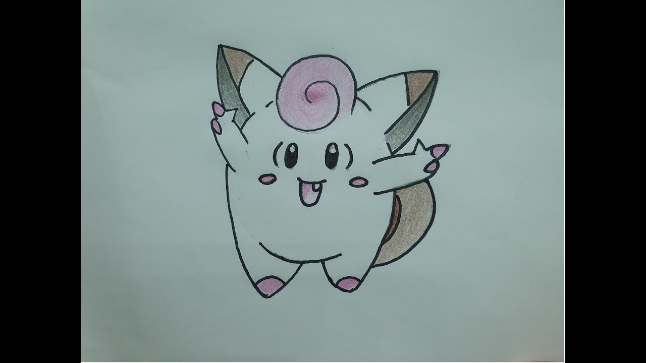 CÁCH VẼ POKEMON – PIPPI / HOW TO DRAW POKEMON – PIPPI