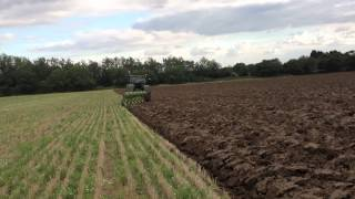 New John Deere and Dowdeswell Plough on Organic Farm