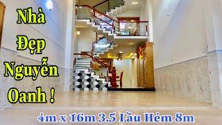 Nhà bán Gò Vấp. 4m x 16m 4 lầu nhà đẹp Cao Cấp hiện đại sang Trọng Ở Nguyễn Oanh Hẻm 8m Thông