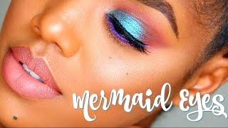 Mermaid Inspired Eye Makeup Tutorial   Ellarie