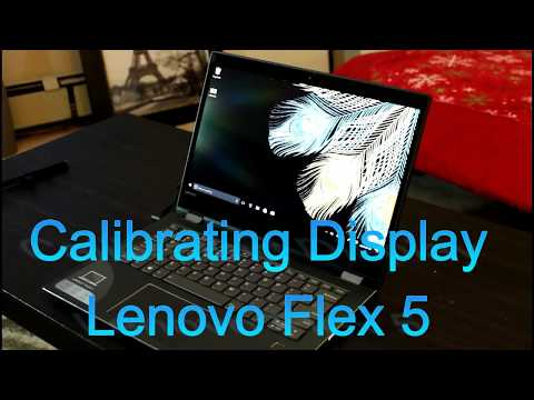"Lenovo Flex 5 14"" Calibrate the Display/Color Management - Screen Review"