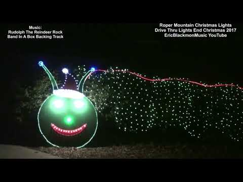 Roper Mountain Christmas Lights 2020 🎄 Rudolph The Red Nosed Reindeer Guitar Cover   Roper Mountain