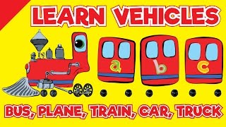 Transportation Song | Bus, Plane, Train, Car, Truck | Songs For Children | Fun Kids English