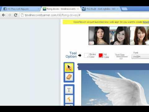 Hướng dẫn tạo ảnh bìa timeline facebook độc đáo....
