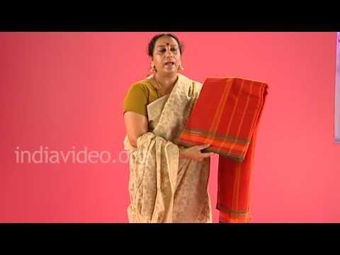Cotton handloom saree of South India