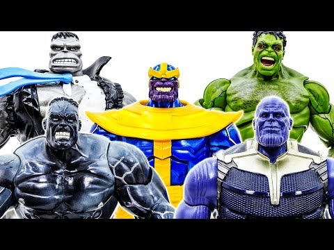 Avengers Guarding Police~ Thanos & Witch Appeared~ Defeat Them~ Go Go Go #Toymarvel