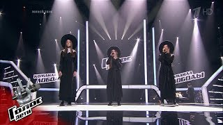 "Tyuryutikova, Abramova, Dzhalagonia ""Take Me To Church"" - Battles - The Voice Kids Russia - Season 6"