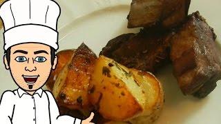 ребрышки в вине с ароматной картошкой от  кулинарного шоу жарь пей