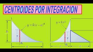 CENTROIDES DE AREAS POR INTEGRACION - Ejercicios resueltos de centroide de una área por integrales