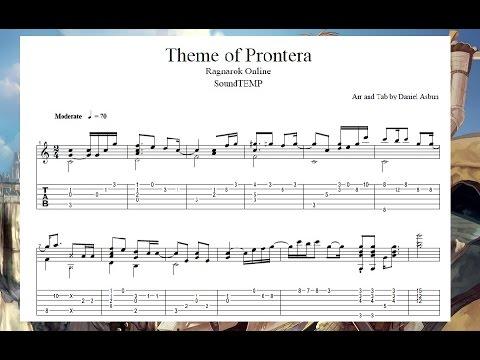 ragnarok theme prontera guitar tab youtube