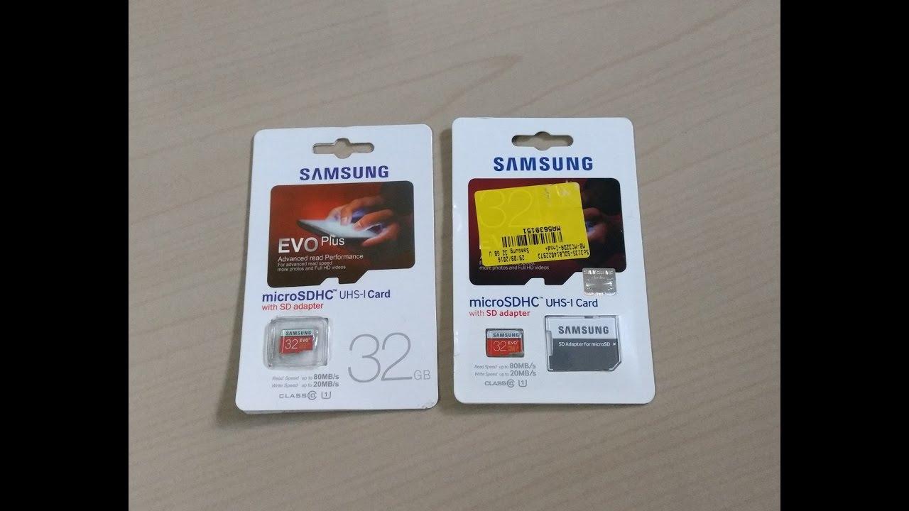 How To Identify Fake Samsung Evo Plus 32 Gb Micro Sd Card Easily