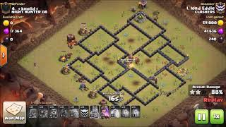 GOHOG TH9 ATTACK STRATEGY 2017| 3 STAR ANY BASE IN CLAN WAR WITHOUT BOWLER| CLASH OF CLANS