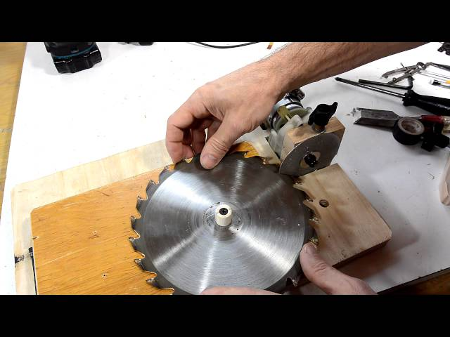 Table Saw Blade Sharpening Jig Youtube