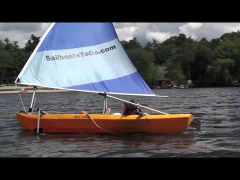 NuCanoe Sailing on Long Lake