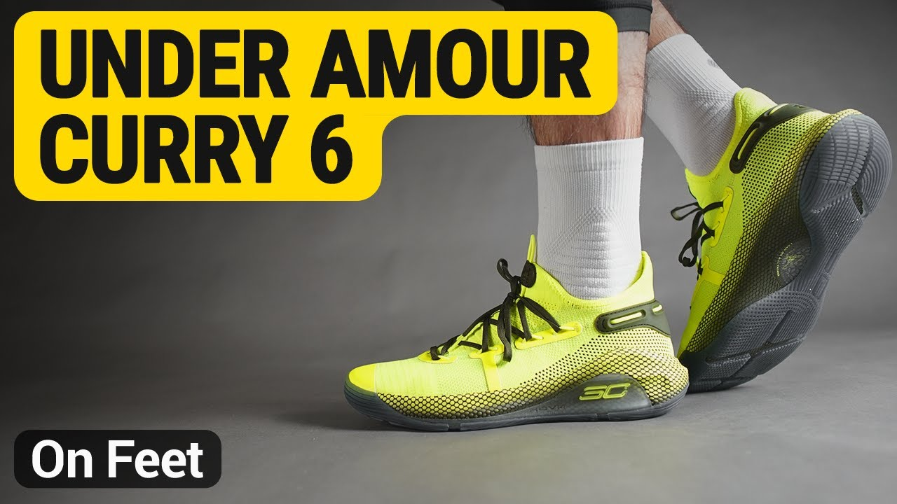 huge selection of 72858 ef21b Under Amour Curry 6 ( High-Vis Yellow / High-Vis Yellow / Guardian Green )  on feet