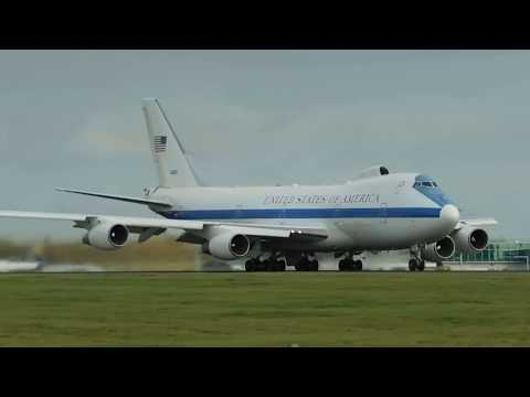 *VICE PRESIDENT* United States Of America Boeing E4B Roars Out Of London Stansted Airport